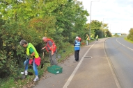 Planting bulbs on Queensway
